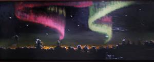 Aurora Borealis- window painting