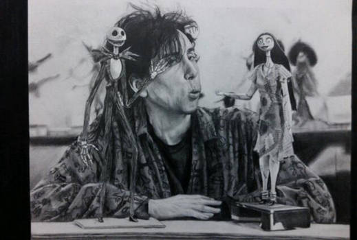 Old drawings: Tim Burton