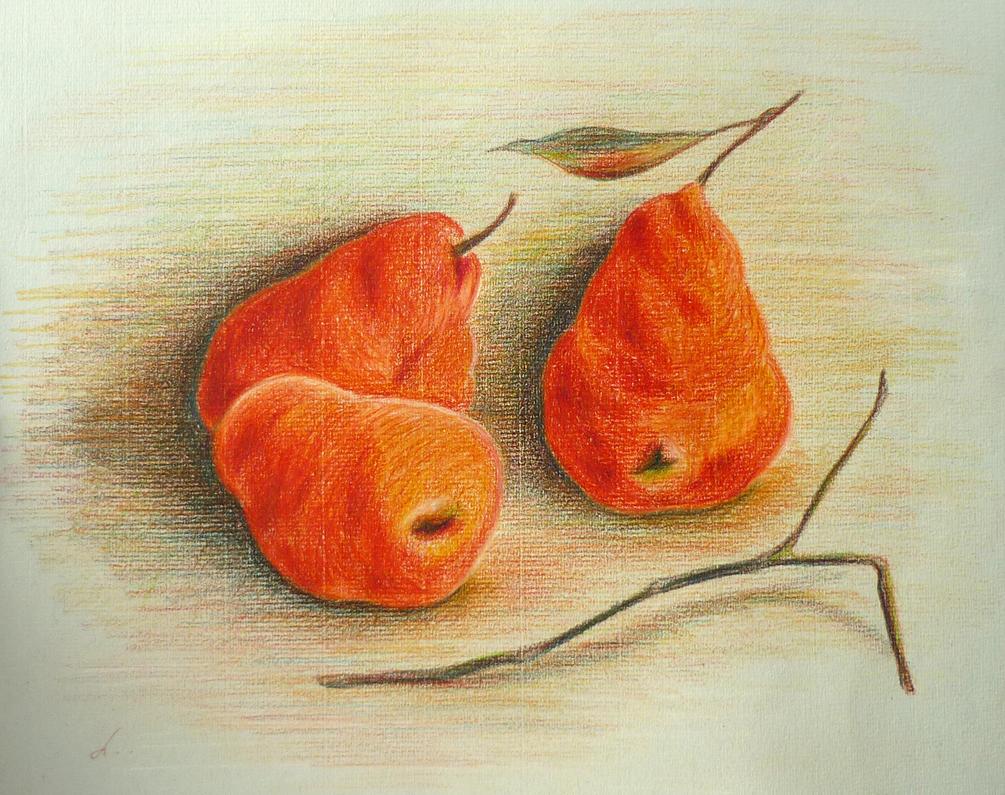 three pears by LasmejaLora