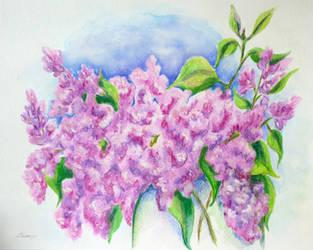Lilac bouquet by LasmejaLora