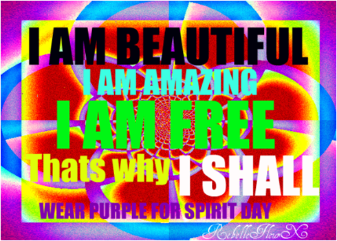 Purple For Spirit Day by RebelleFleurX