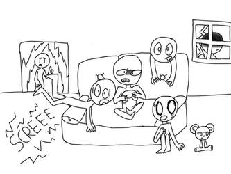 Horror Game (Draw the Squad Base) by ThePinkDino
