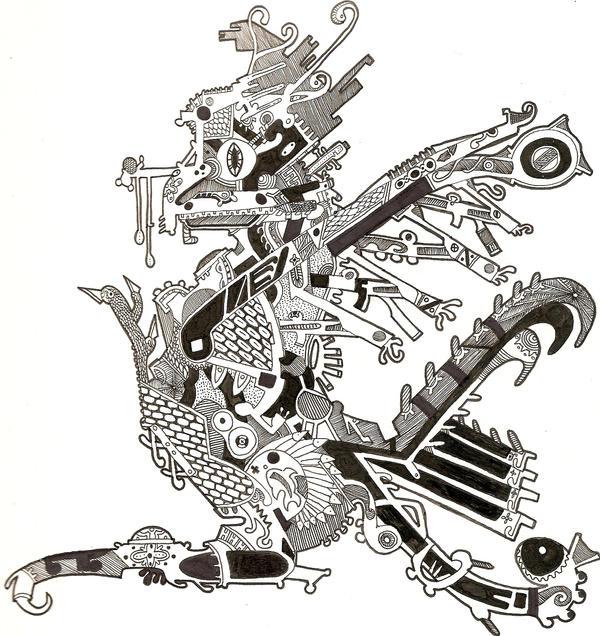 mayan eagle tattoo by johnnycasino on deviantart. Black Bedroom Furniture Sets. Home Design Ideas