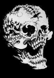 Skull with extra teeth by DarthHoney