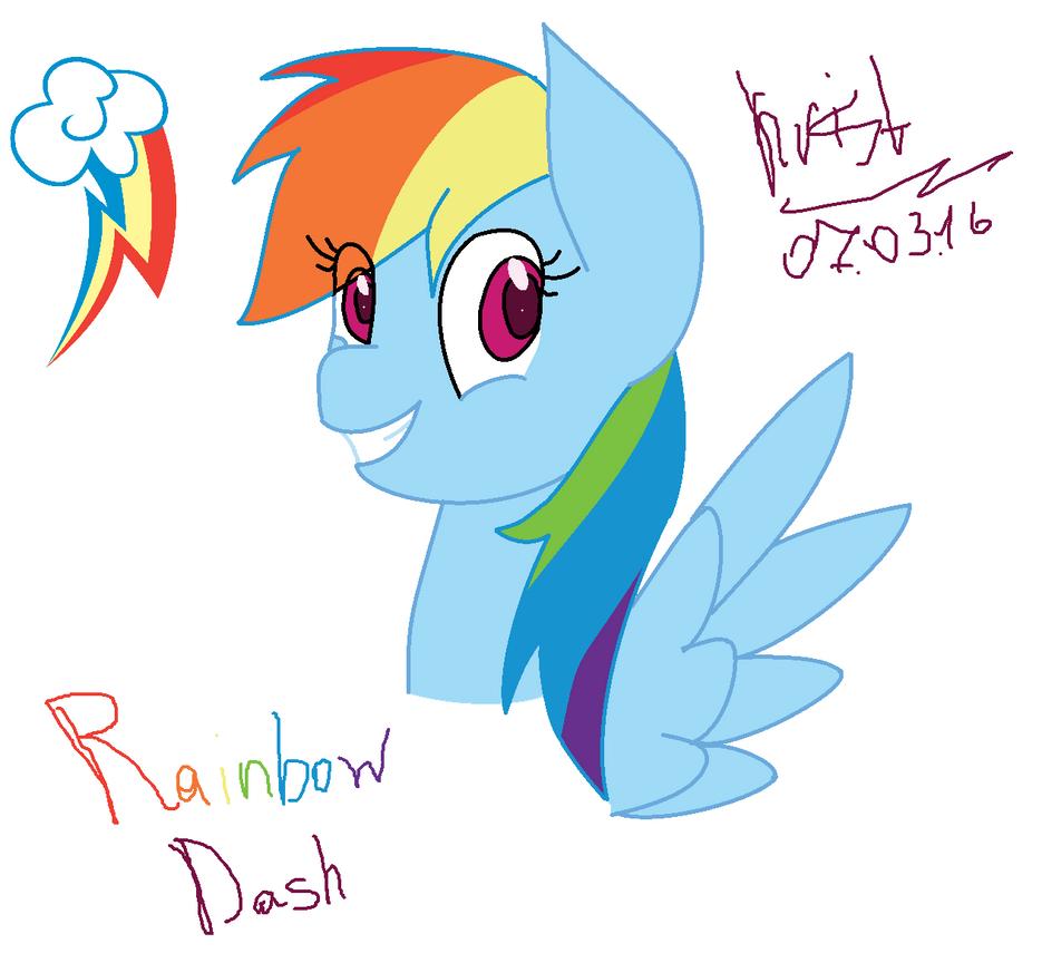 Rainbow Dash by Kristalina-Shining