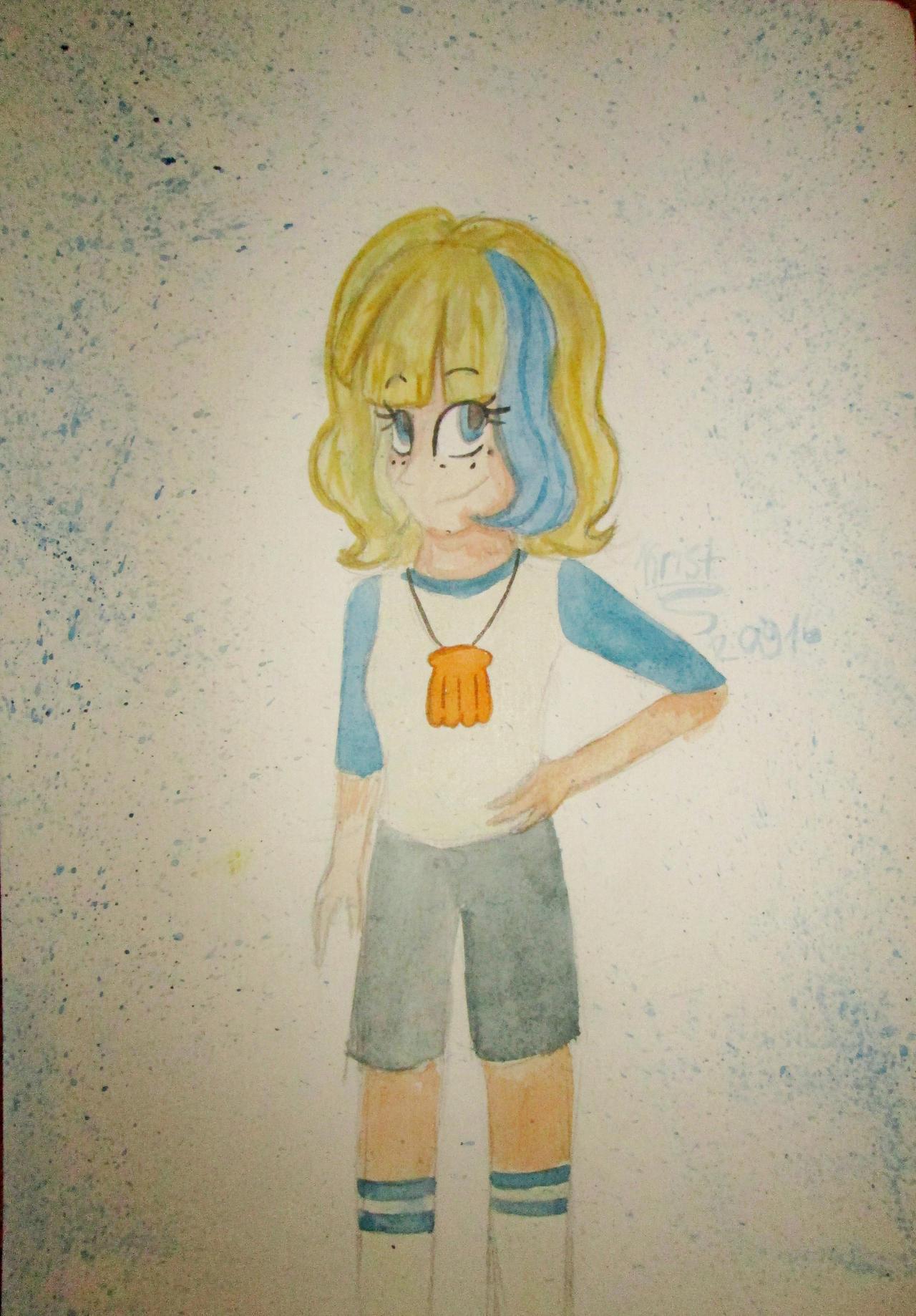 Jackie Lynn Thomas. Watercolor by Kristalina-Shining