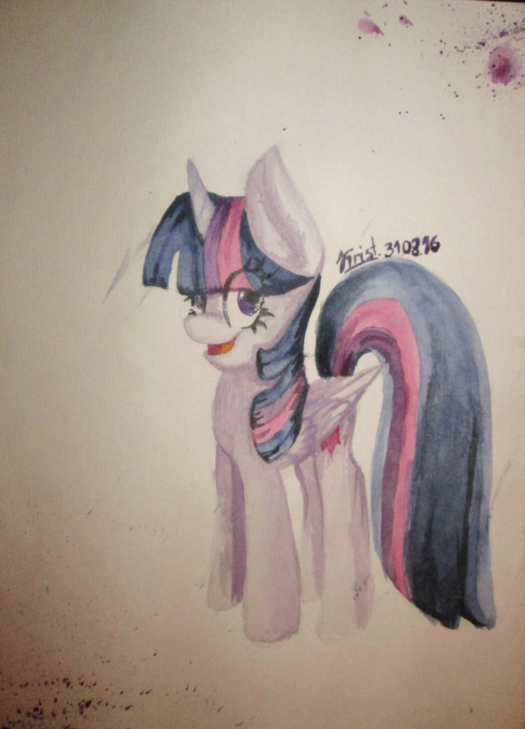 Twilight Sparkle. Watercolor. by Kristalina-Shining