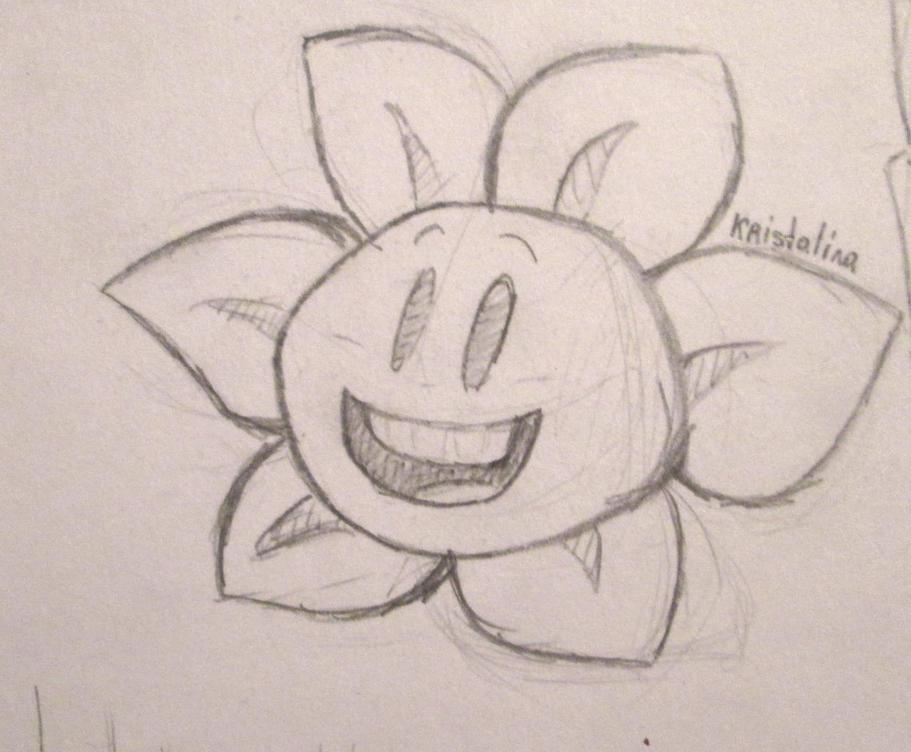 Paper Figure Flowey first concept by Kristalina-Shining