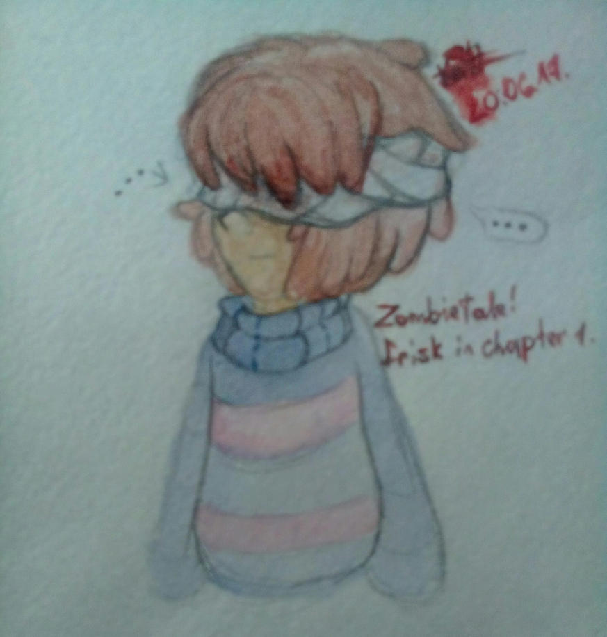 ZombieTale! Frisk in Chapter 1 by Kristalina-Shining