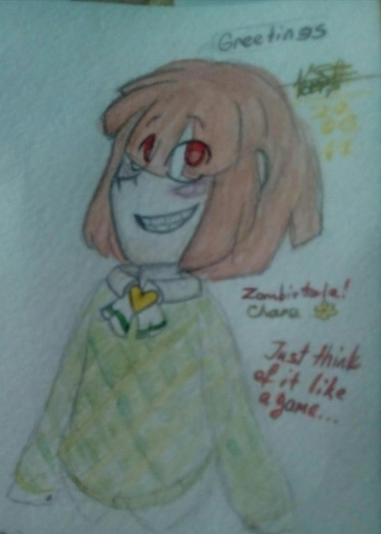 ZombieTale! Chara from memory in Intermission 1 by Kristalina-Shining