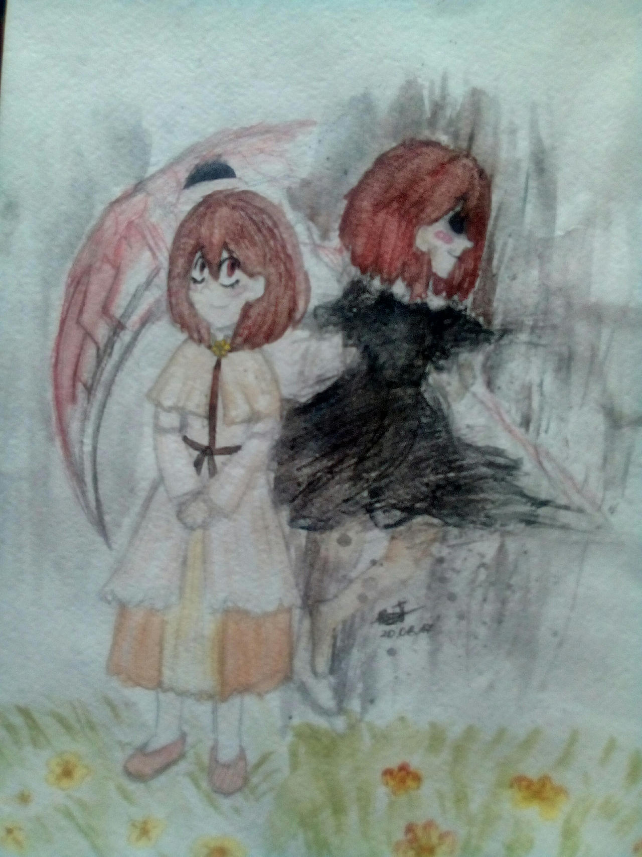 Watercolor. ReaperTale! Chara by Kristalina-Shining