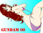 Miss Sumeragi, Gundam 00 by Kwokheichan