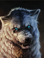 wolf by Brevis--art