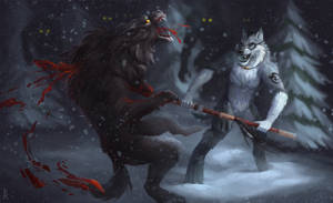 Commission: werewolf by Brevis--art