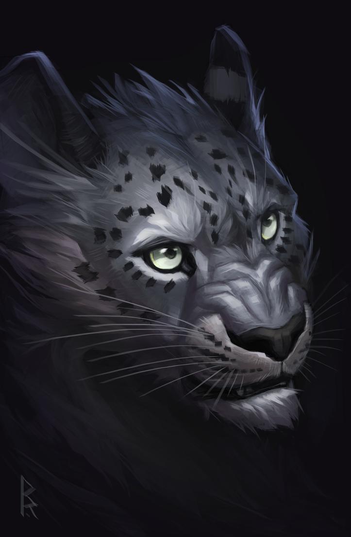 Commission: snow leopard by Brevis--art