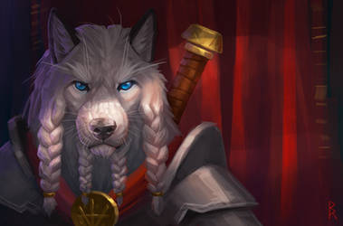 gift: wolf by Brevis--art