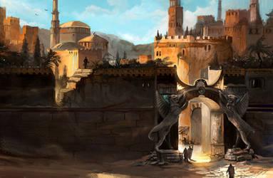 Desert Gate by flaviobolla