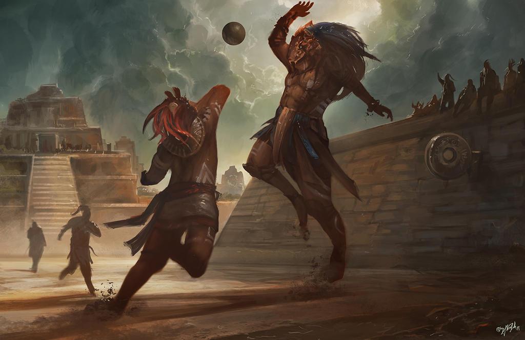 Mesoamerican Ballgame by flaviobolla