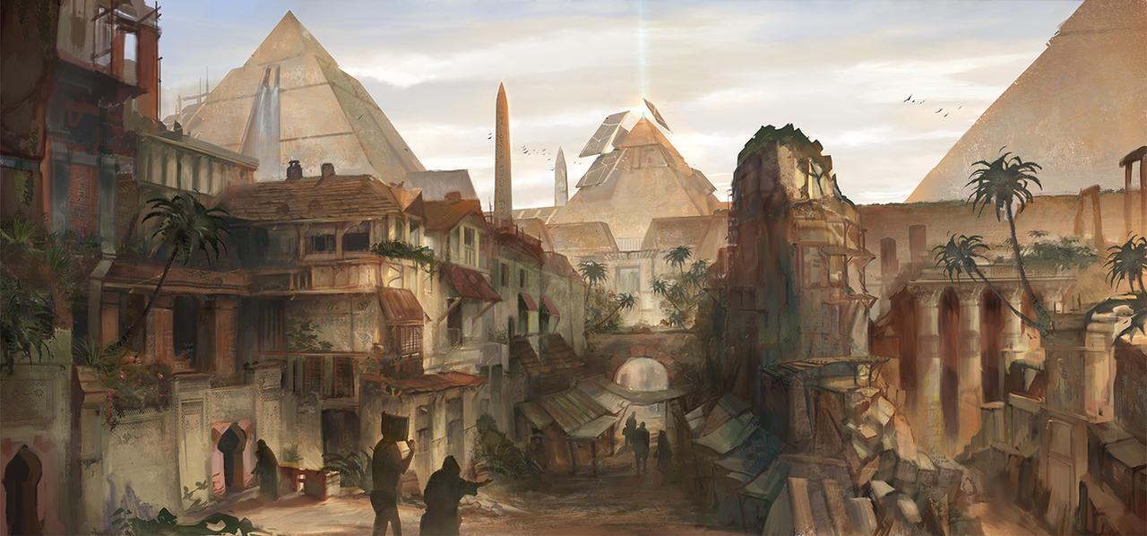 Egypt Warrior Illustration Anubis Pyramid Fantasy Art: The Great Pyramid By Flaviobolla On DeviantArt
