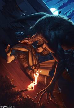 Werewolf attack on whiterun guard
