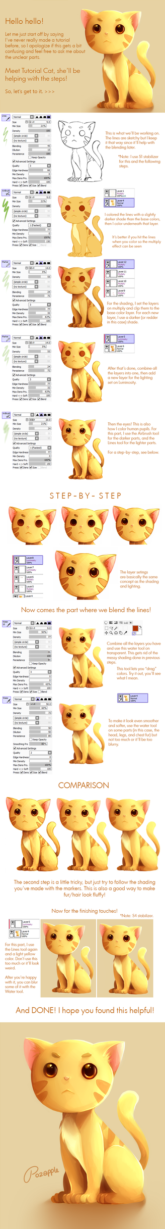 Tutorial + Brush Settings! by Pozapple
