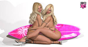 The Beach Girls Nicole and Leticia (twin sisters)2