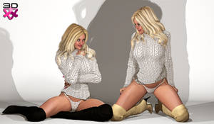 TWINS NICOLE and LETICIA - TURTLENECK SWEATERS3
