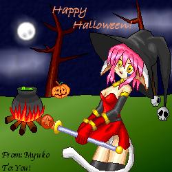 Happy Halloween Kitty by Tenchin