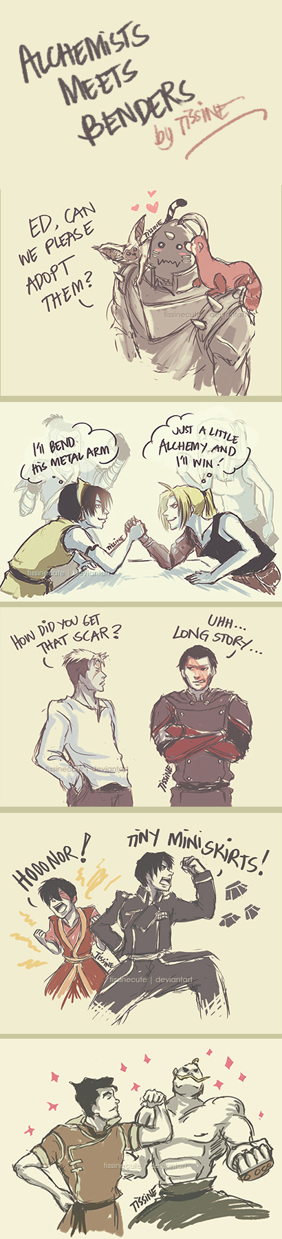 Alchemists meets Benders - FMA x ATLA/LOK by tissine