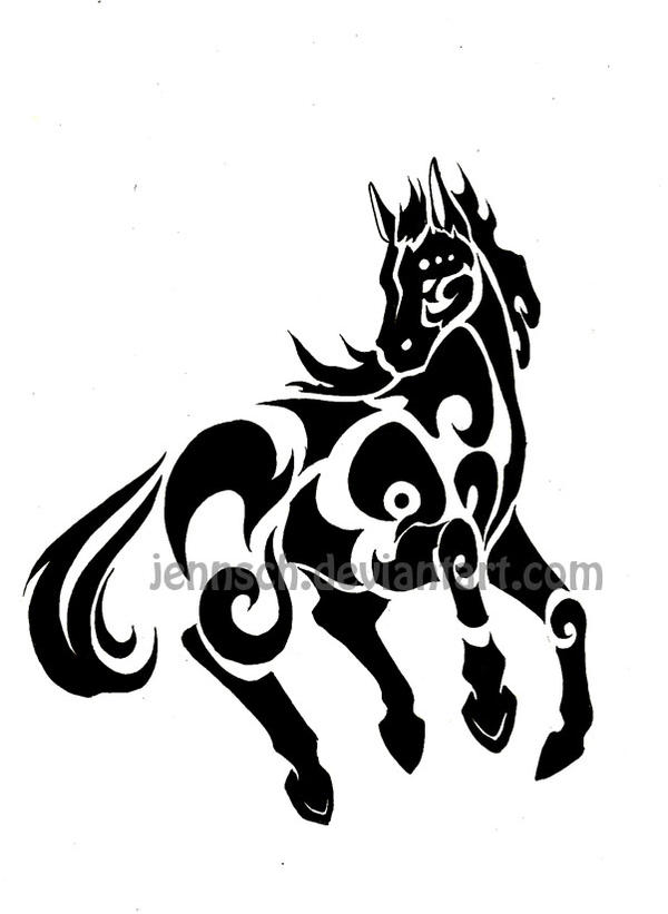 Chinese Zodiac Horse Tattoo