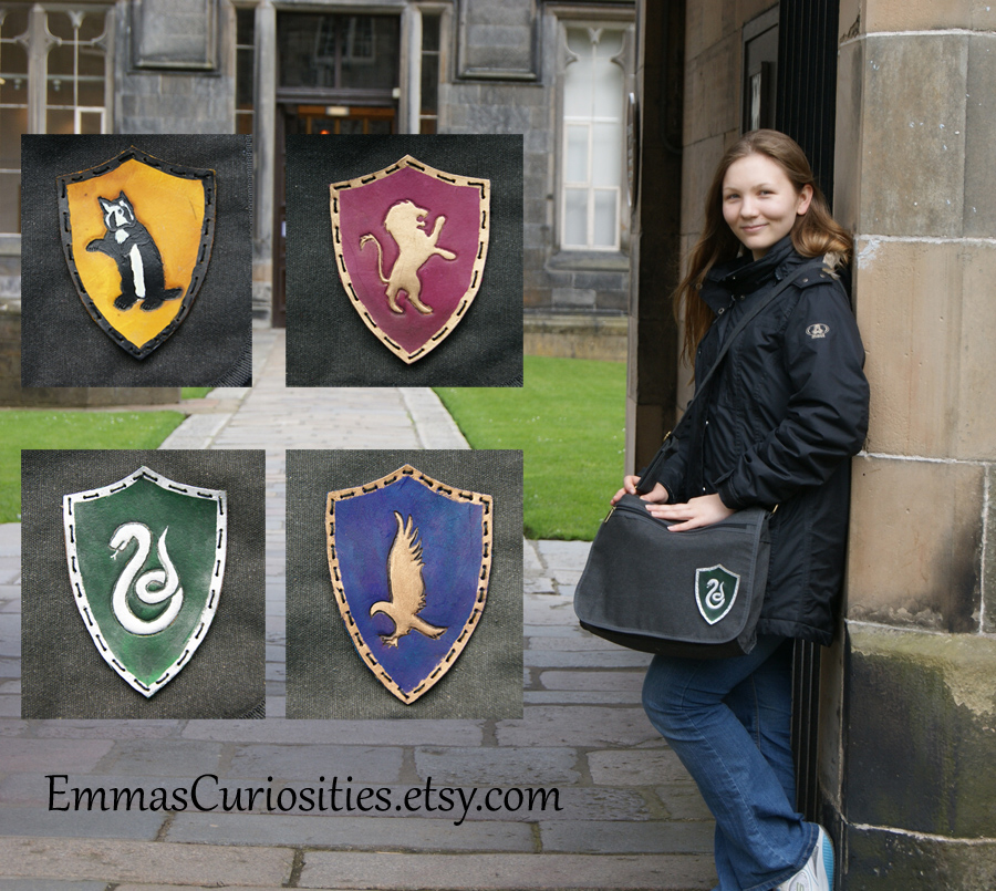 Harry potter messenger bag satchel by ButtonxMushroom