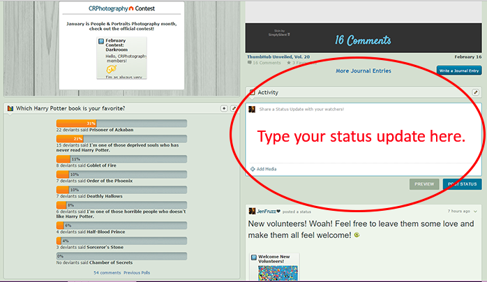 How To Write A Status Update By Jenfruzz On Deviantart