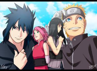 Naruto Fanart - A Blue Sky by IIAetherVentusII