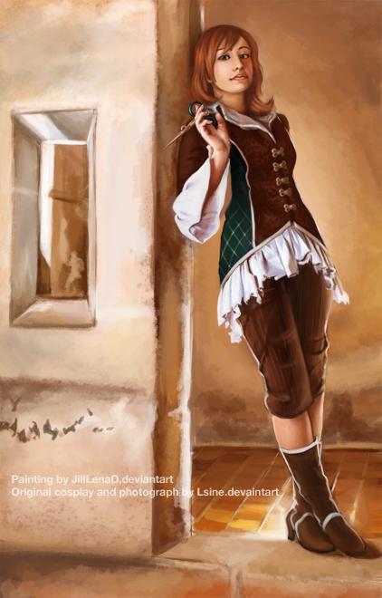 Faustina-Painting by JillLenaD