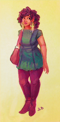 SP-Green Dress by JillLenaD