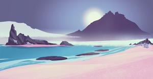 Purple beach 108