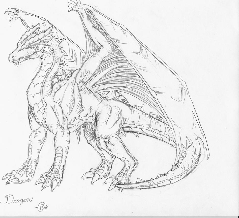 Simple Dragon Sketches In Pencil | www.imgkid.com - The ...
