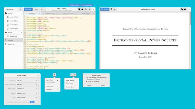LaTeX Editor GTK+3 by aldomann
