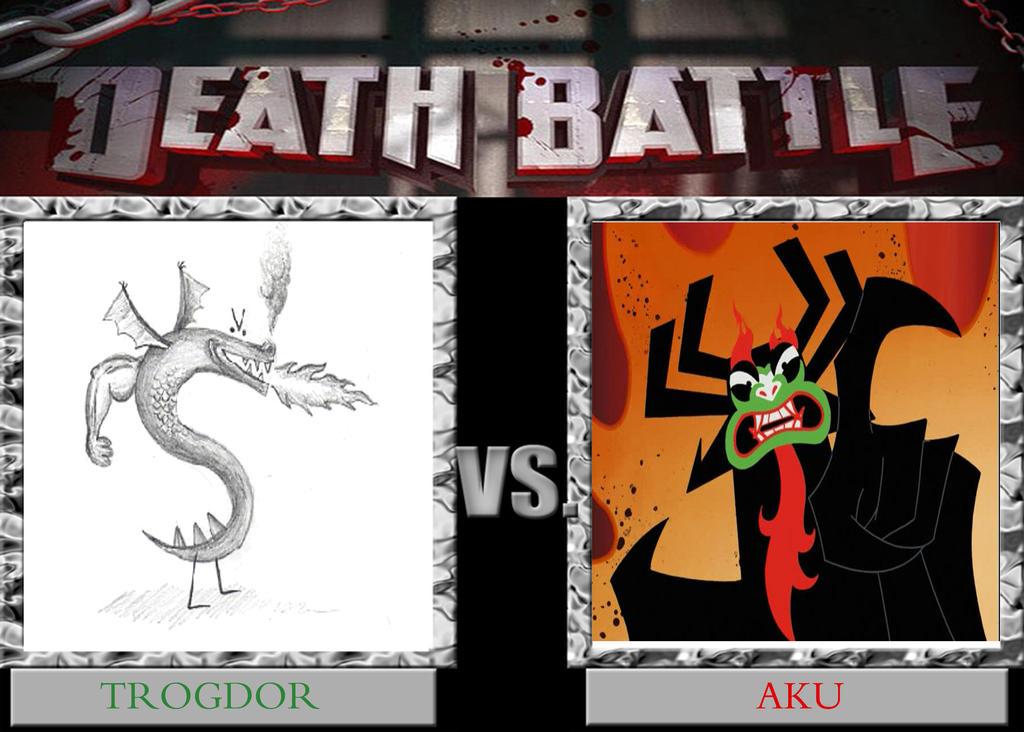 Trogdor versus Aku by timbox129