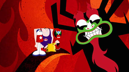 Aku strikes a deal with Strong Bad and Homestar by timbox129