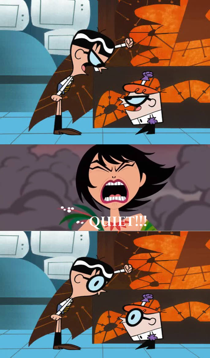 Ashi stops Dexter and Mandark's Fighting Argument by timbox129