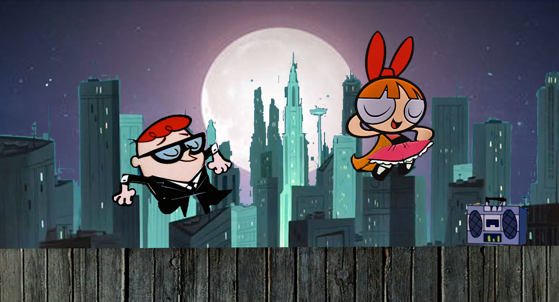 Dexter and Blossom dancing in the Moonlight Redux