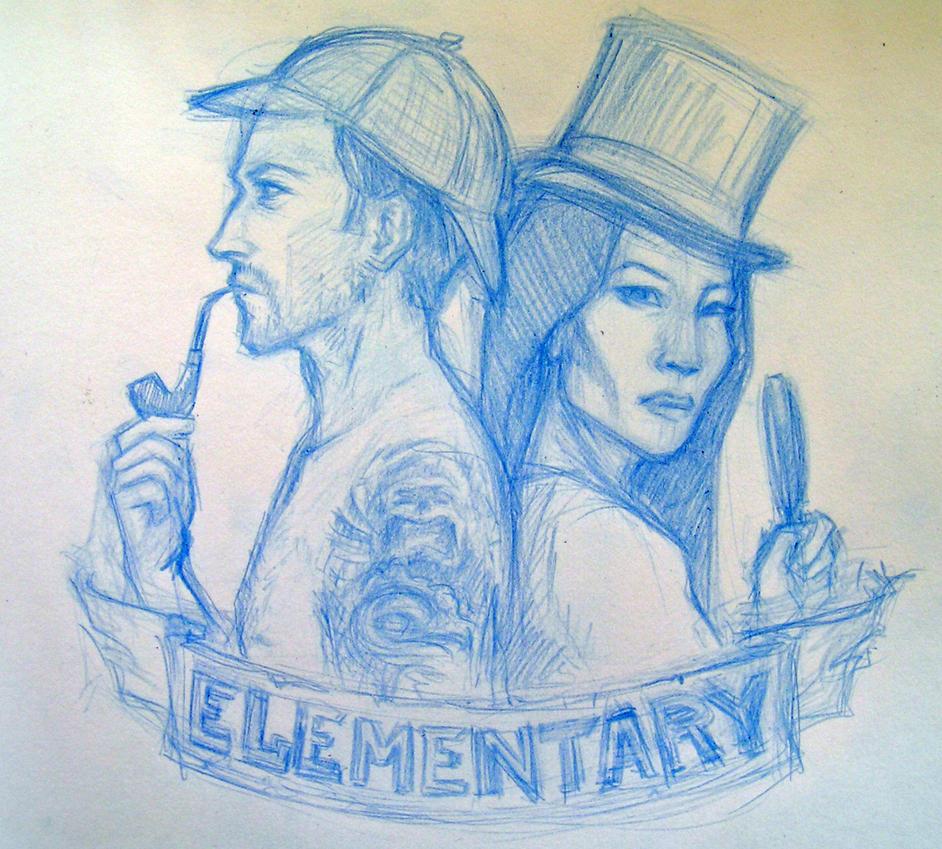 elementary sketch by Ca-roline
