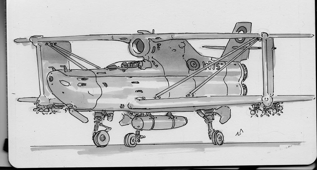 jet biplane by No87
