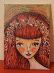 Annette Mini ACEO painting