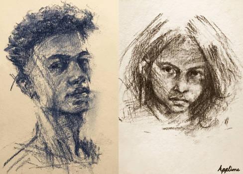 Chalk Pencil Drawings