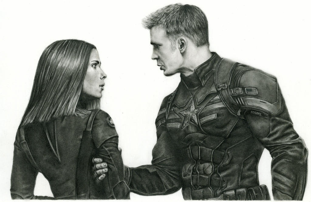Captain America and Black Widow by LiubovKorotkova