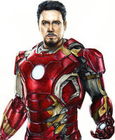 Iron Man/ Tony Stark by LiubovKorotkova