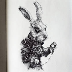 The White Rabbit (Inktober 2015)