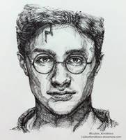 Harry Potter (Ink) by LiubovKorotkova